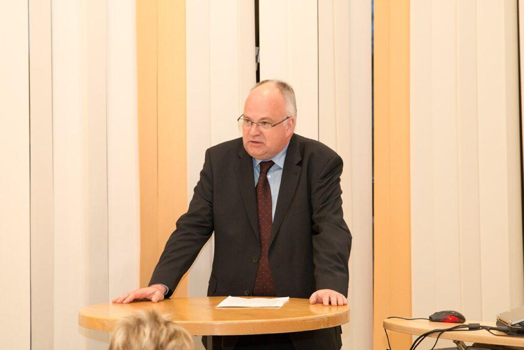 Bürgermeister Martin Wächter informierte über seine Visionen für Menden.